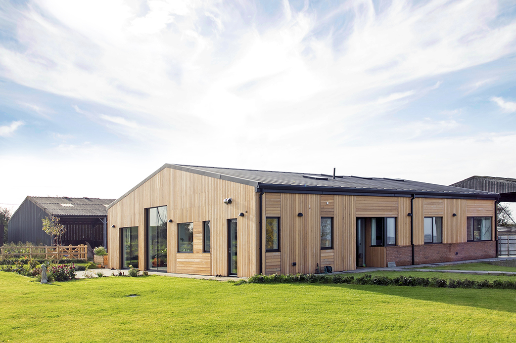 slide: Barn conversion Sustainable home for young family