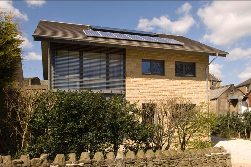 Denby Dale Passivhaus the UK's first cavity wall Passivhaus courtesy of Green Building Store