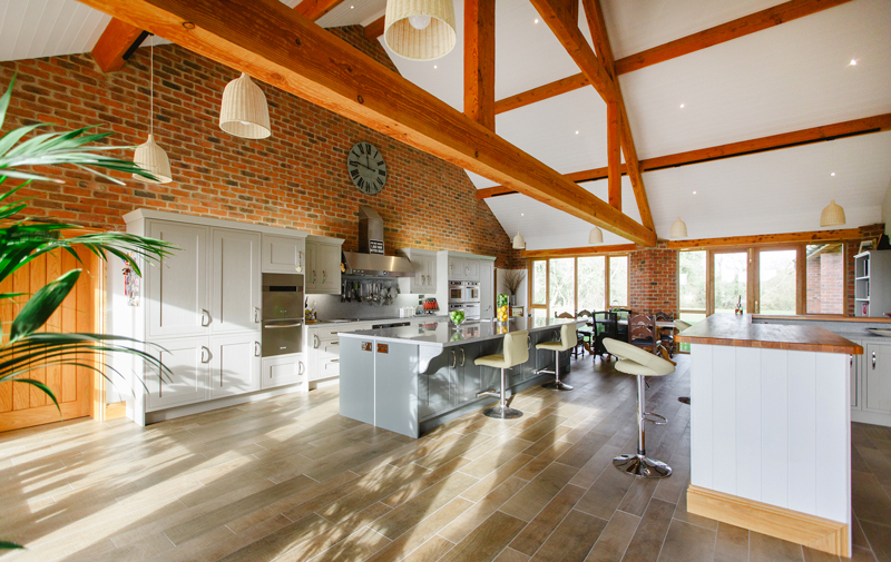 Formal dining rooms tend to be a thing of the past in new homes, with the rising popularity of open-plan kitchen/diners, where meals can be prepared while chatting to diners
